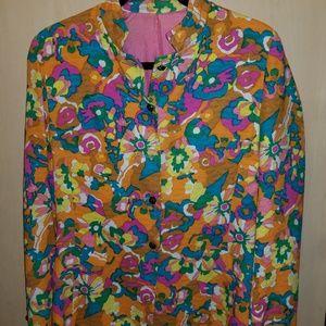MARK HOBER BLOOMINGDALES Sport Shop floral blazer